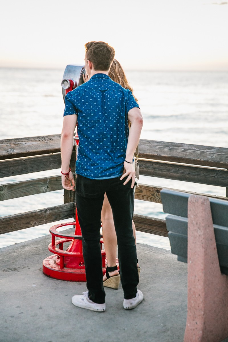 Image 2 of Jamie and Jacob's Crazy Cute Proposal on the Newport Beach Pier