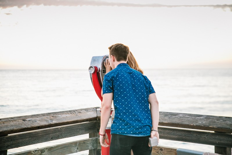 Image 3 of Jamie and Jacob's Crazy Cute Proposal on the Newport Beach Pier