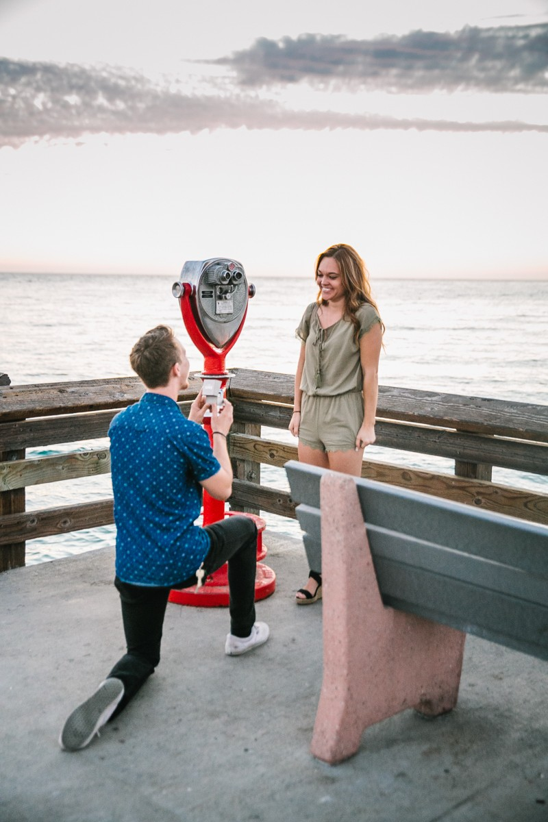 Image 4 of Jamie and Jacob's Crazy Cute Proposal on the Newport Beach Pier