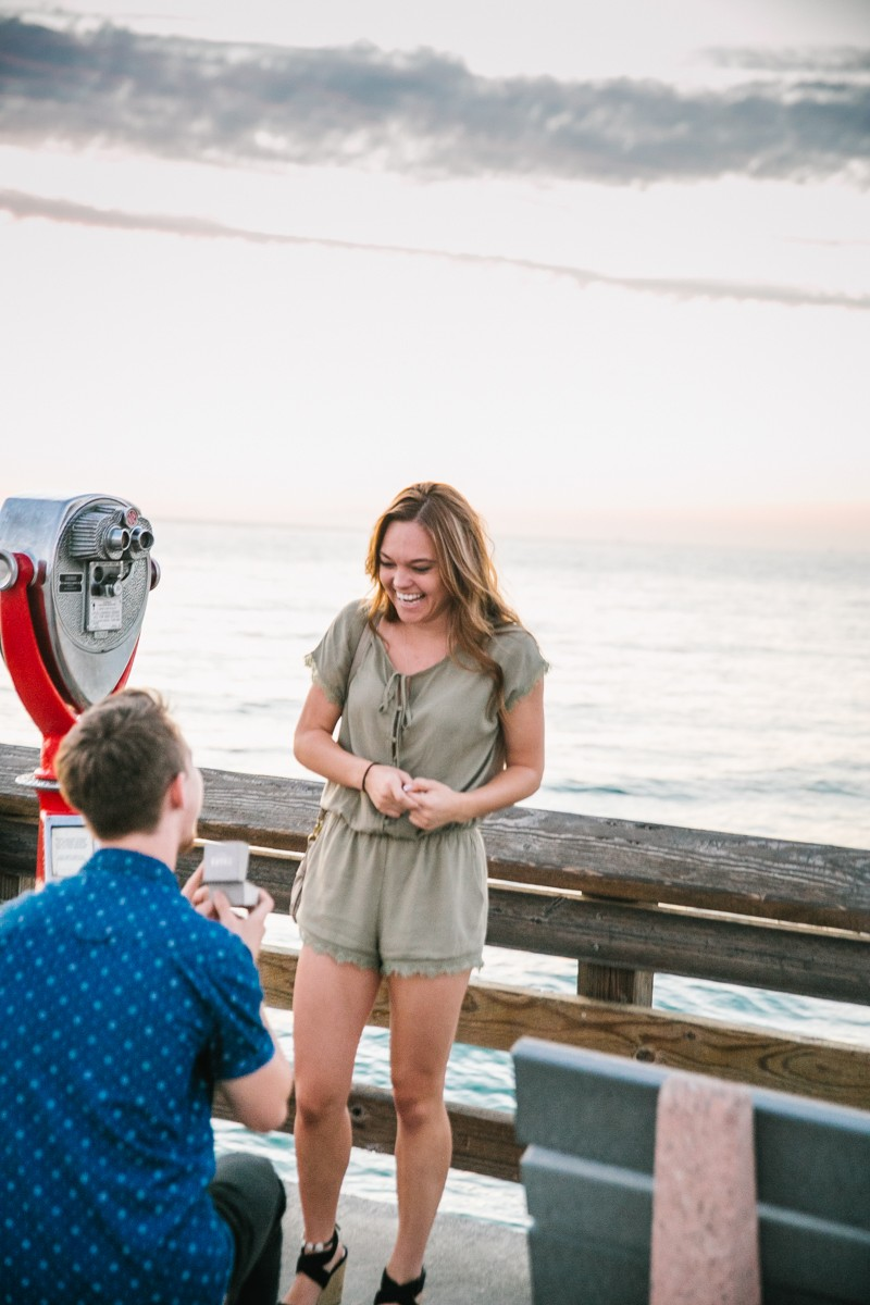Image 5 of Jamie and Jacob's Crazy Cute Proposal on the Newport Beach Pier