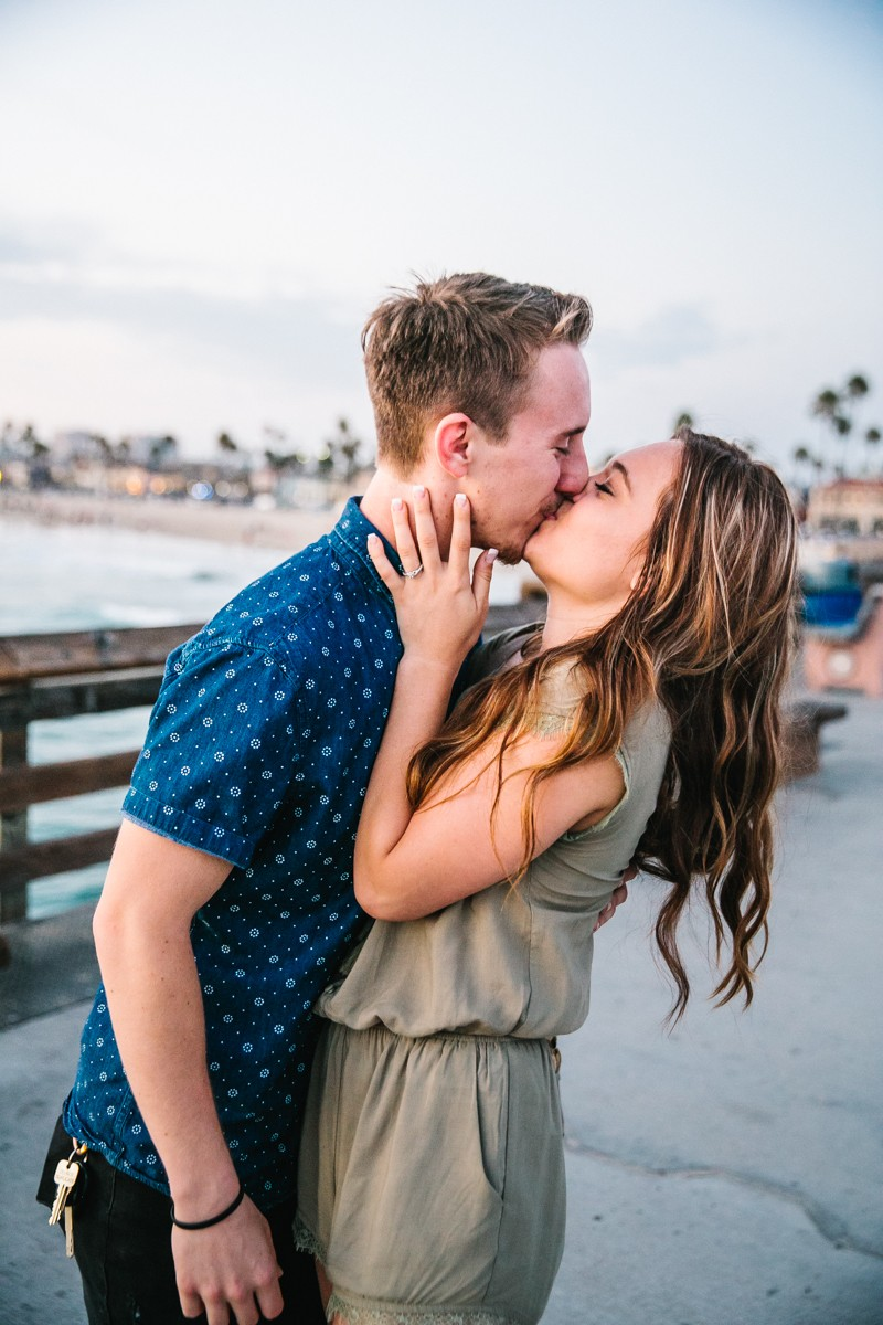 Image 10 of Jamie and Jacob's Crazy Cute Proposal on the Newport Beach Pier