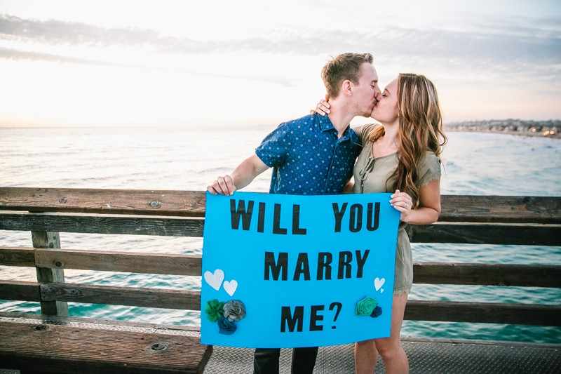 Image 11 of Jamie and Jacob's Crazy Cute Proposal on the Newport Beach Pier