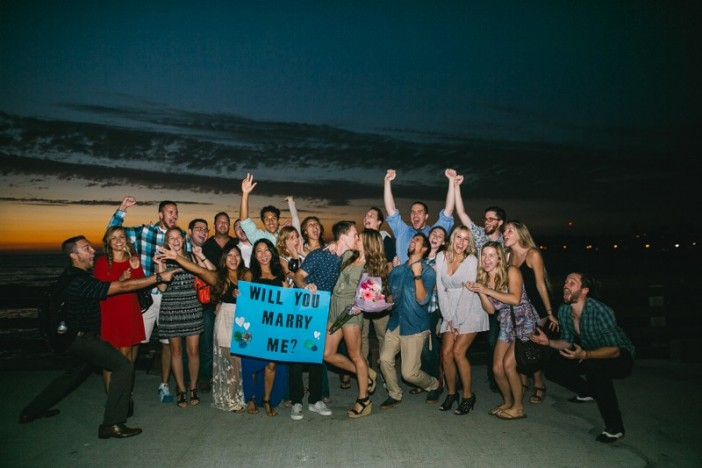 Image 12 of Jamie and Jacob's Crazy Cute Proposal on the Newport Beach Pier