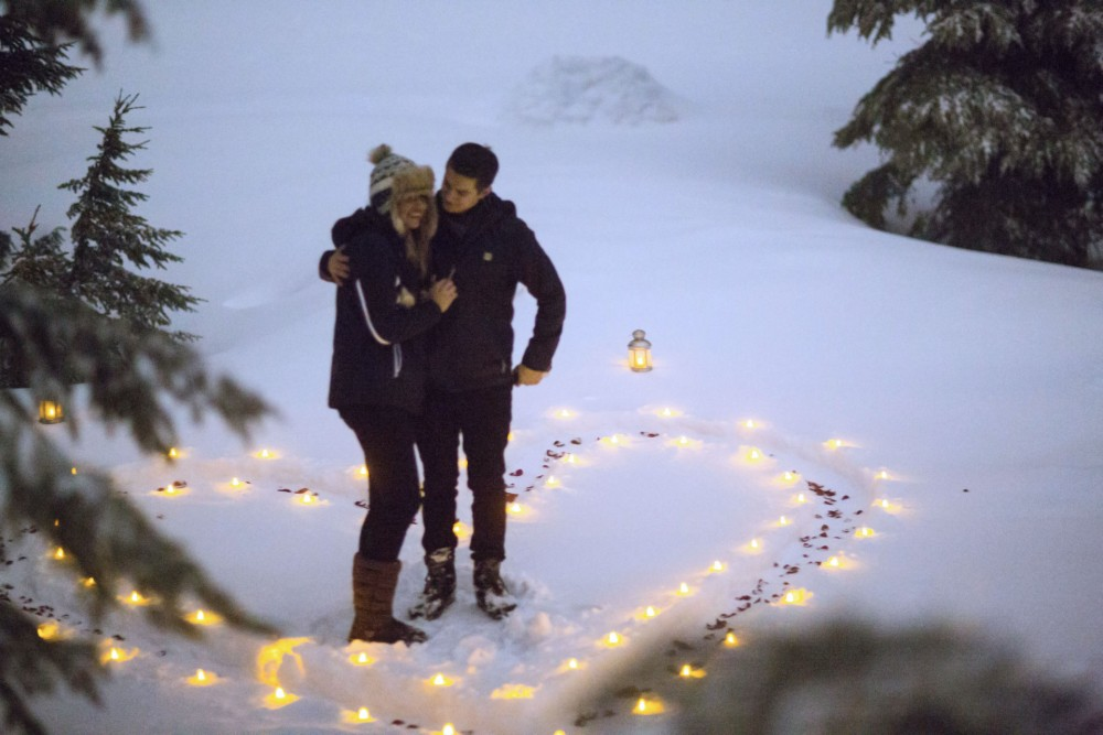 Image 2 of Susie and Daniel's Magical Proposal in the Snow