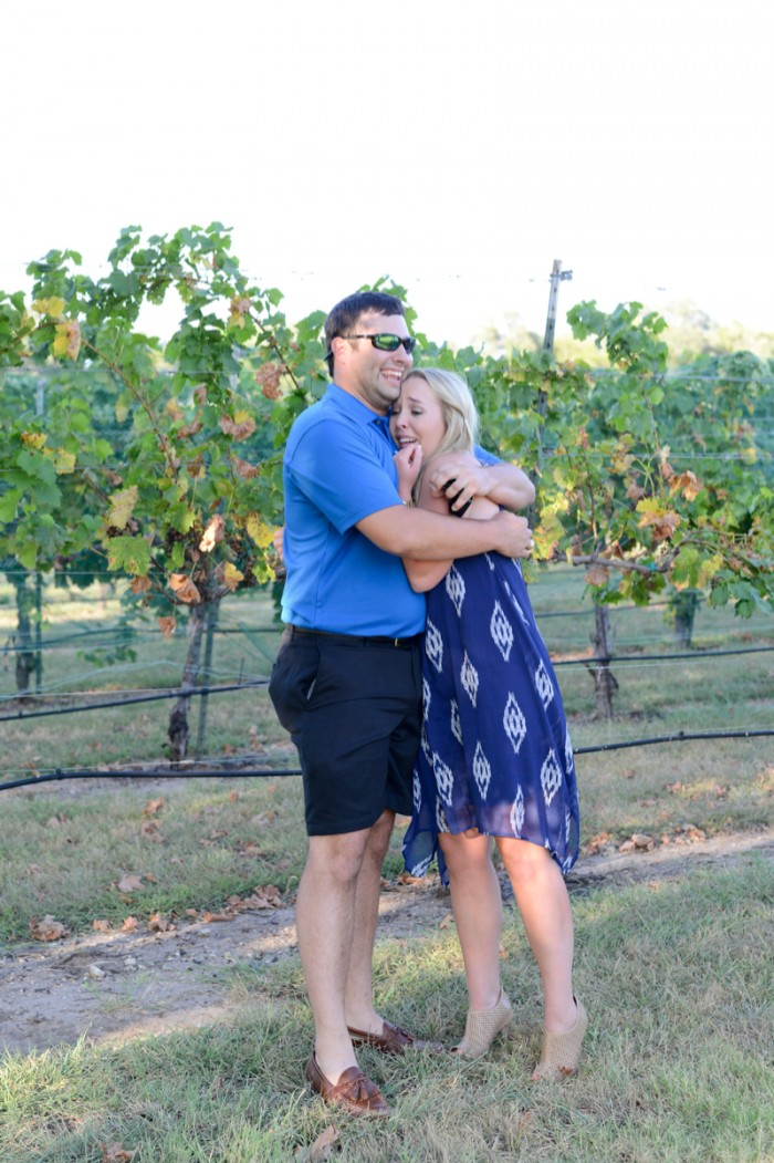Image 7 of Chris and Paige's Flat Creek Winery Marriage Proposal