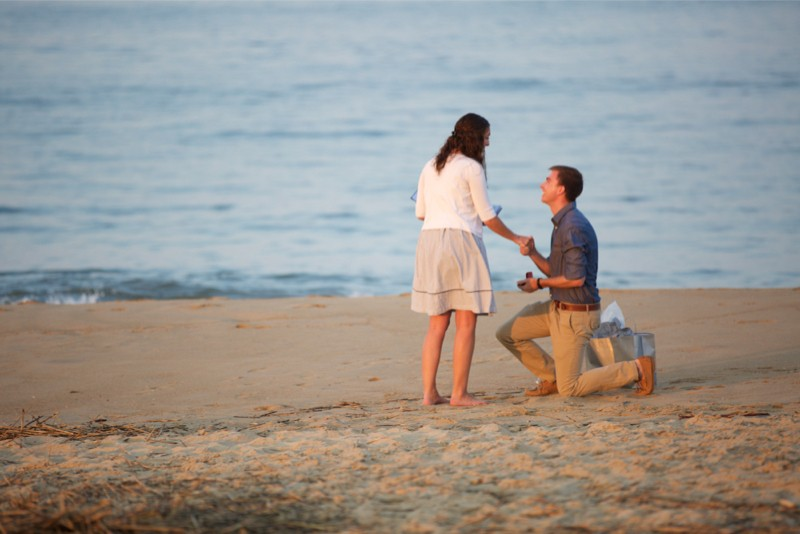 Stacey and Trevor Surprise Marriage Proposal on the Beach (3)