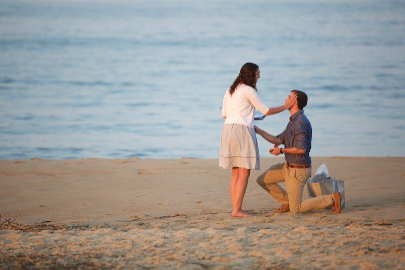 Stacey and Trevor Surprise Marriage Proposal on the Beach (4)