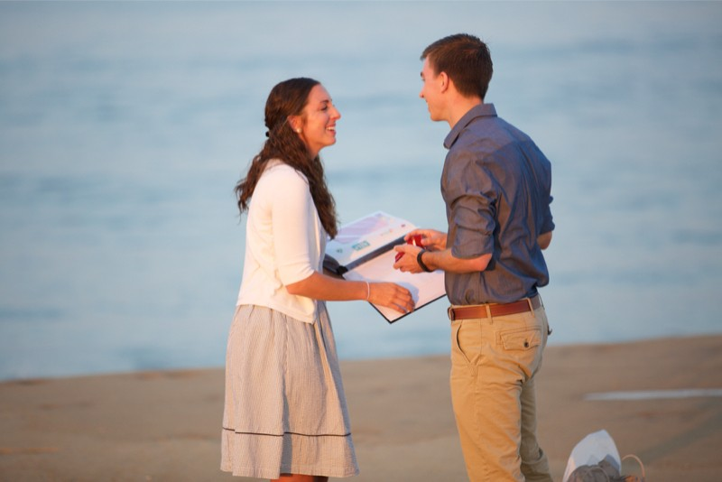 Stacey and Trevor Surprise Marriage Proposal on the Beach (7)