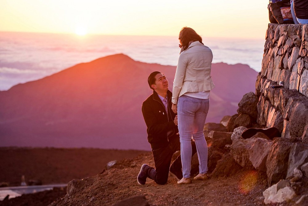 Image 3 of Cristina and Al's Sunrise Proposal at the Top of Haleakala