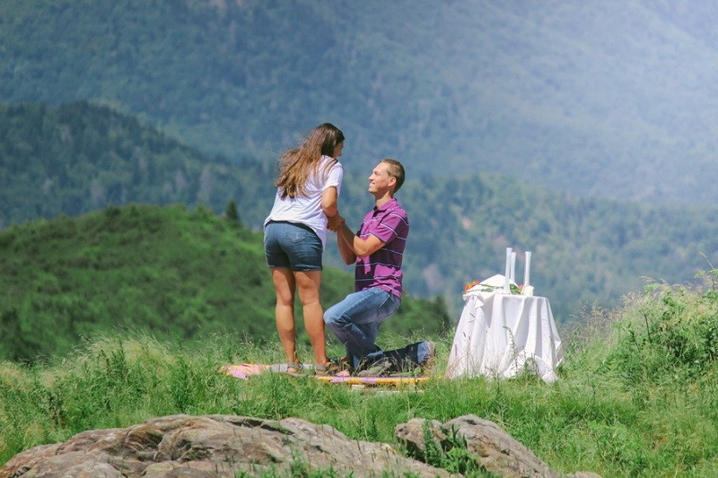 Surprise Marriage Proposal on Mountaintop 15
