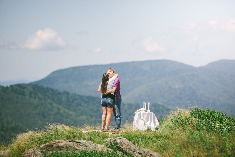 Surprise Marriage Proposal on Mountaintop 2
