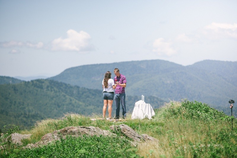 Surprise Marriage Proposal on Mountaintop 8