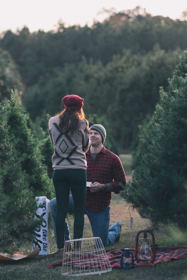 Christmas Proposal Ideas at Tree Farm