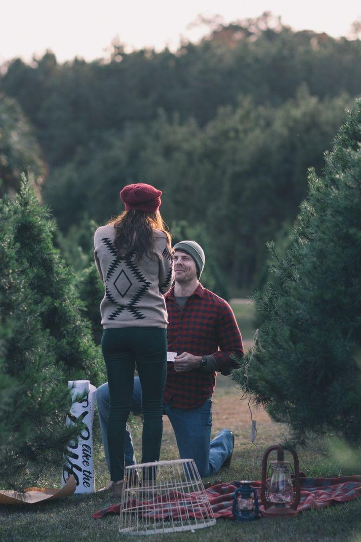 Christmas Proposal Ideas at Tree Farm