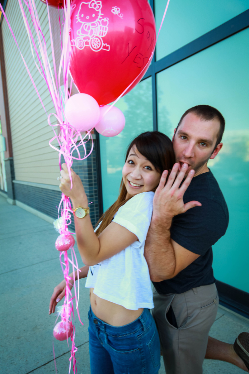 Image 1 of Zach and Diana's Surprise Proposal at a Frozen Yogurt Store