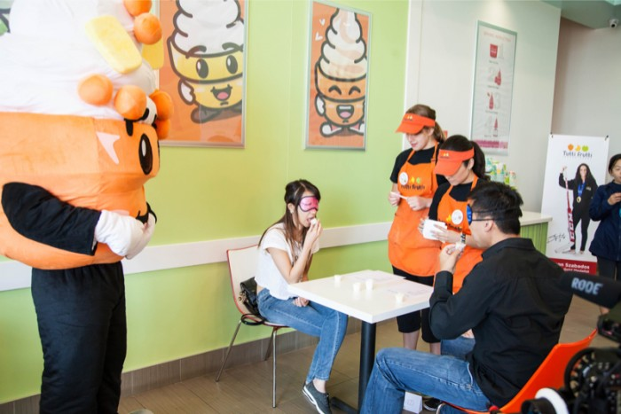 Image 6 of Zach and Diana's Surprise Proposal at a Frozen Yogurt Store