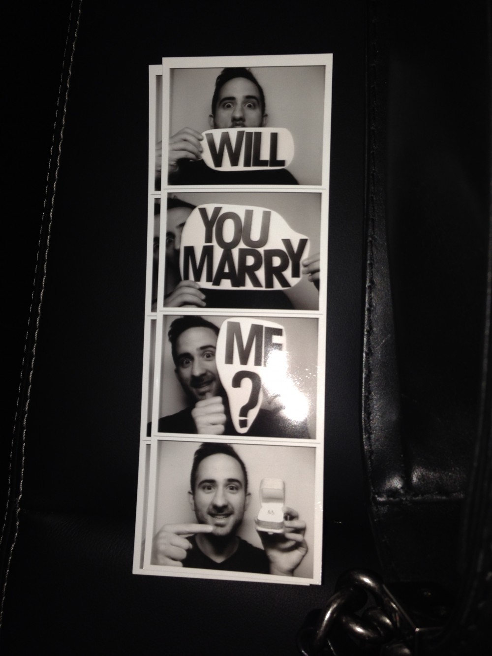 photo strip will you marry me