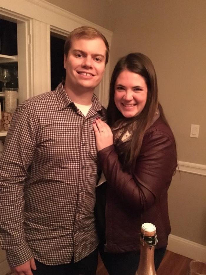 Celebrating the night of our engagement! WERE ENGAGED!