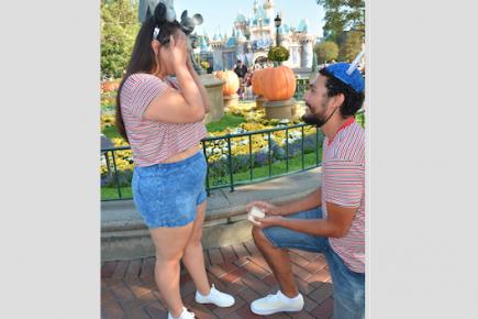 Aholibama Merary's Proposal in Disneyland Resort