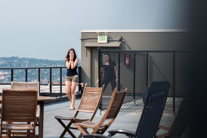 Image 2 of Auzdon and Megan's Romantic Rooftop Proposal