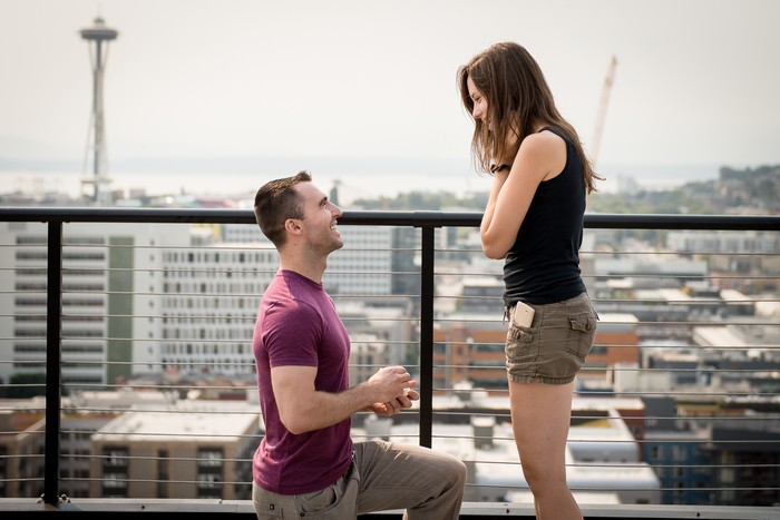 Image 6 of Auzdon and Megan's Romantic Rooftop Proposal