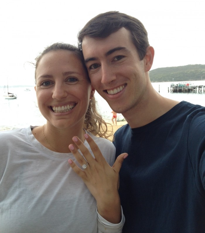 Kaitlin's Proposal in In Manly by the harbour front.