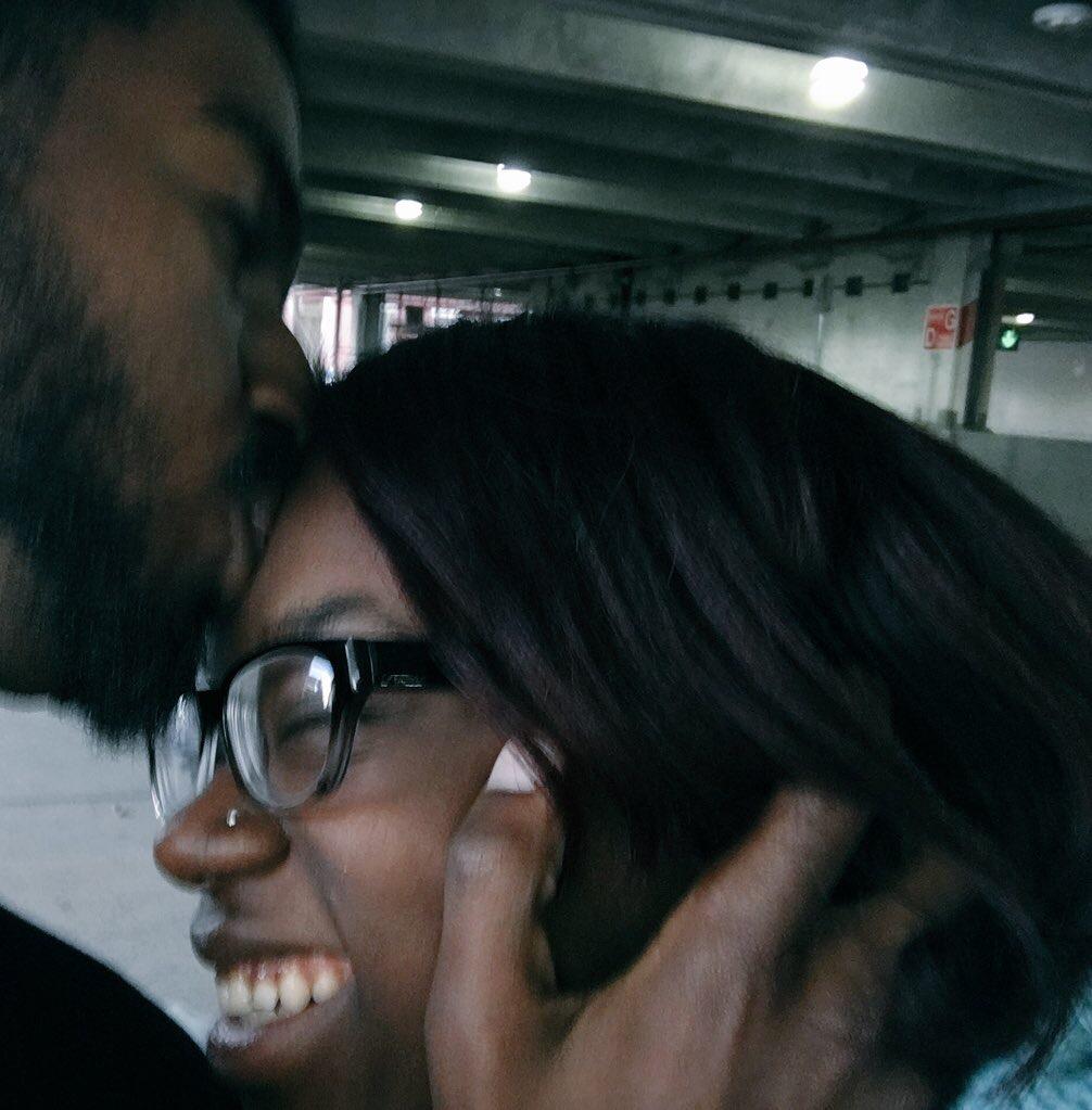 I adore his forehead kisses.