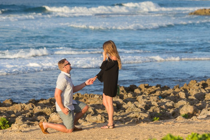 The perfect proposal on the beach, I was at a loss for words.