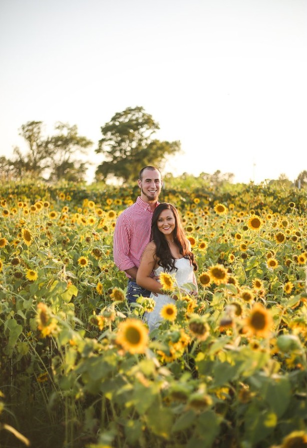 Image 1 of Jessica and Tyler's Sunflower Proposal
