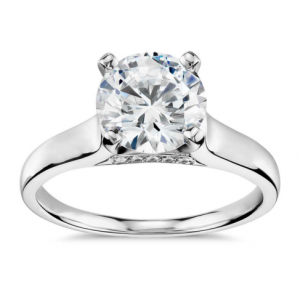 Truly Zac Posen Cathedral Solitaire Plus Diamond Engagement Ring