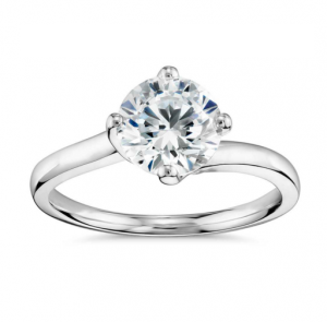 Truly Zac Posen East-West Solitaire Engagement Ring