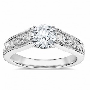 Truly Zac Posen Graduated Pave Diamond Engagement Ring