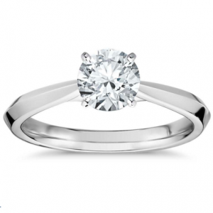 Truly Zac Posen Knife-Edge Solitaire Engagement Ring