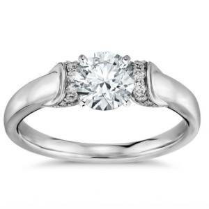 Truly Zac Posen Ribbon Diamond Engagement Ring