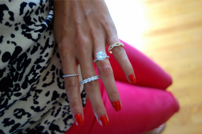 Image 8 of How to Pair Jewelry With Your Engagement Ring with Hearts On Fire