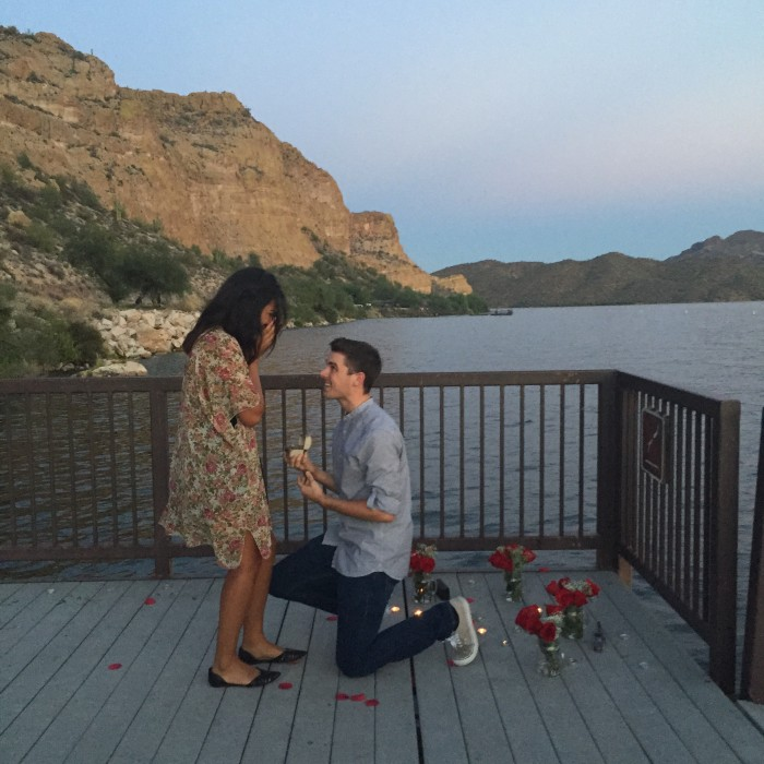 It was the most perfect proposal and the most perfect night.