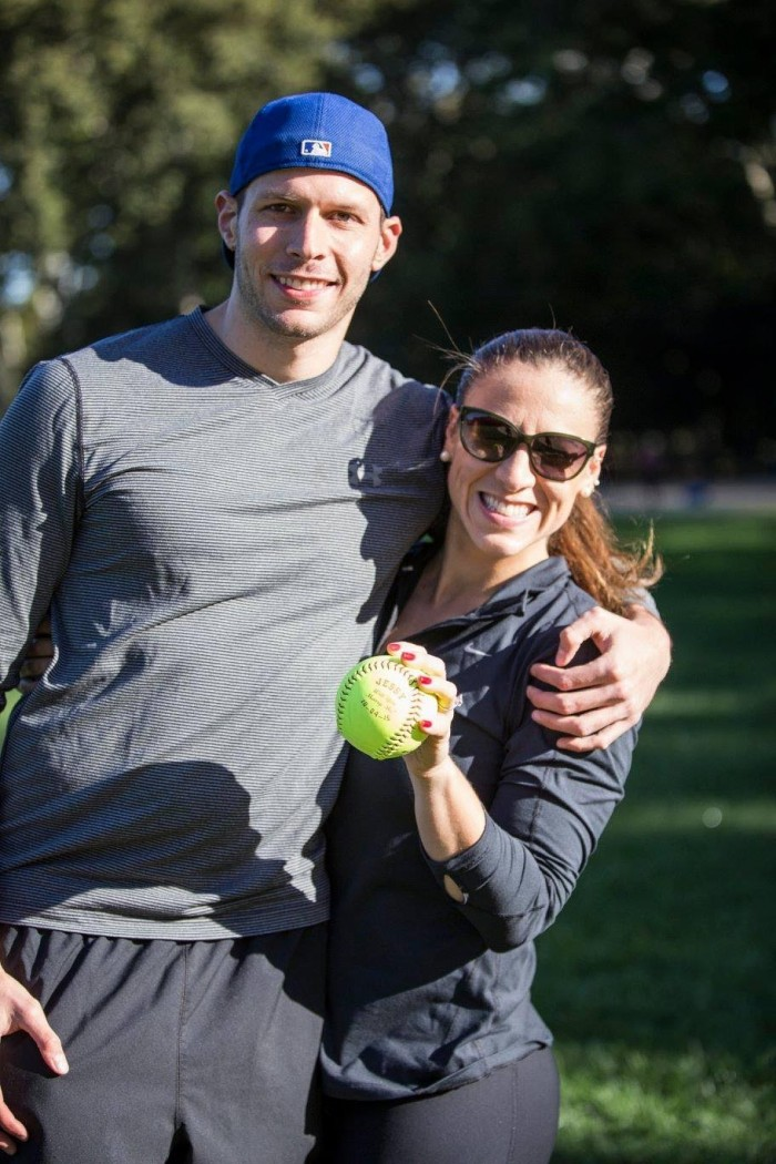 Image 1 of Jessica and Adam's Softball Proposal in Central Park