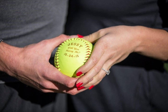 Image 5 of Jessica and Adam's Softball Proposal in Central Park