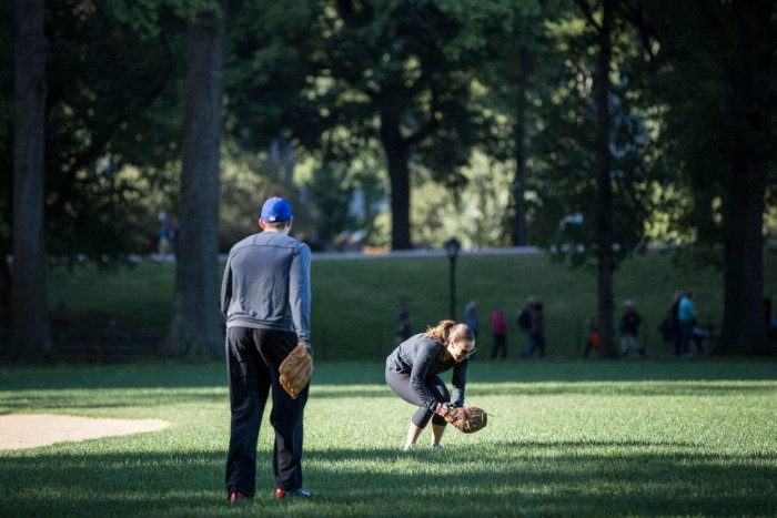 Image 2 of Jessica and Adam's Softball Proposal in Central Park
