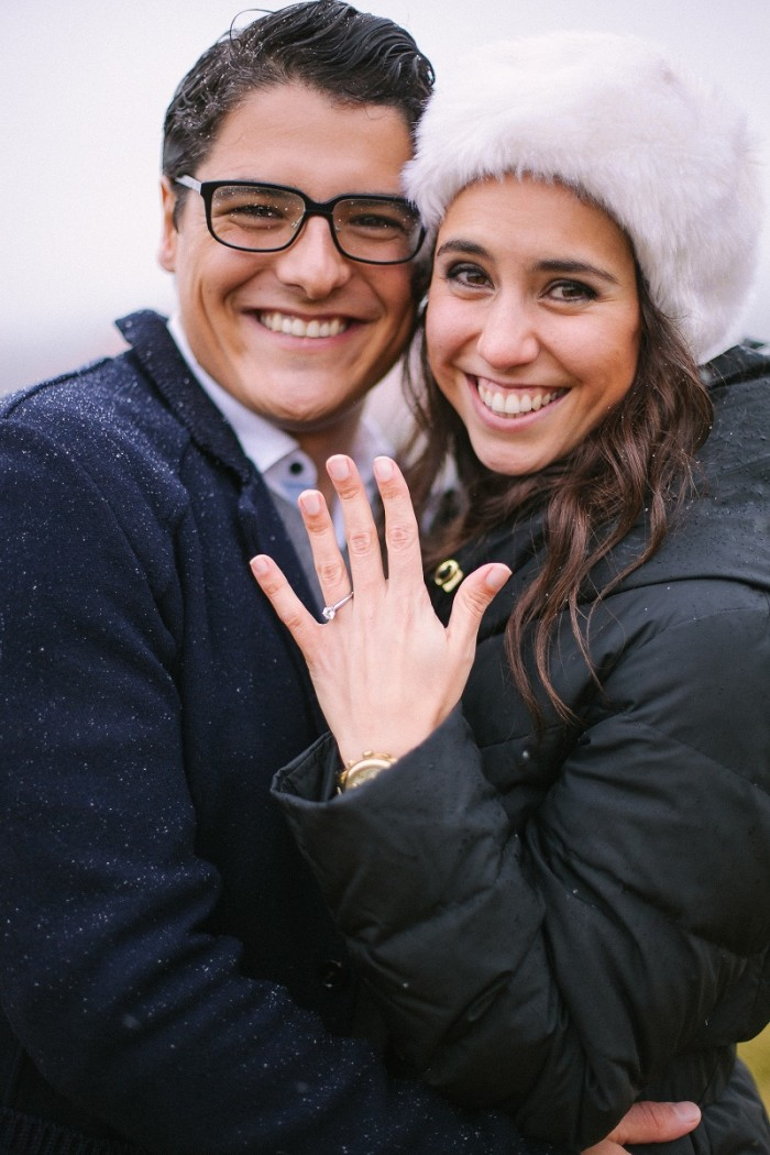 Image 1 of Ricardo and Vanessa's Snowy Proposal
