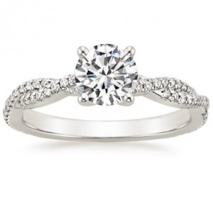 Petite Luxe Twisted Vine Diamond Ring