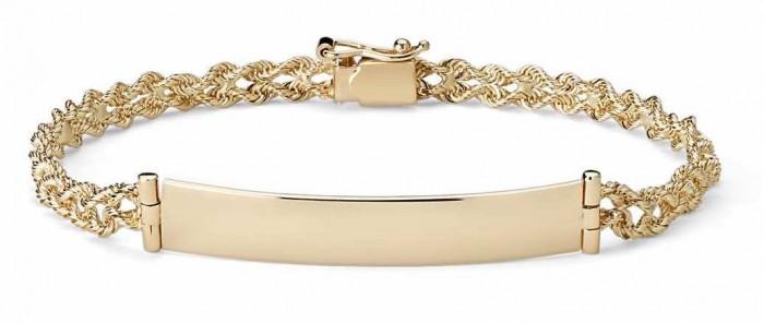 engraveable gold bracelet blue nile
