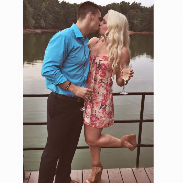 Wedding Proposal Ideas in Grandparents lake house dock