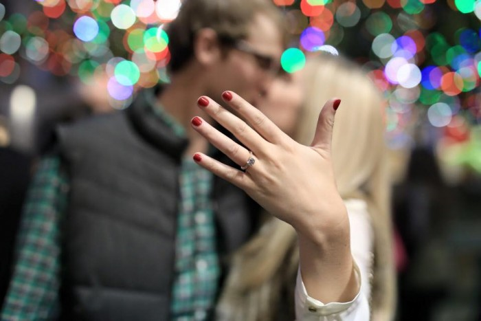 Wedding Proposal Ideas in Rockefeller Center Tree