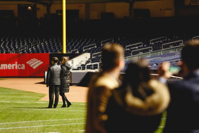 Marriage Proposal at Yankee Stadium