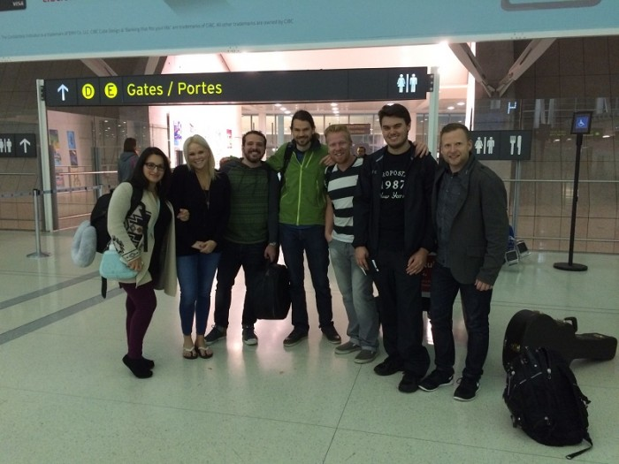 Allen Froese Band at Pearson Departures (1)
