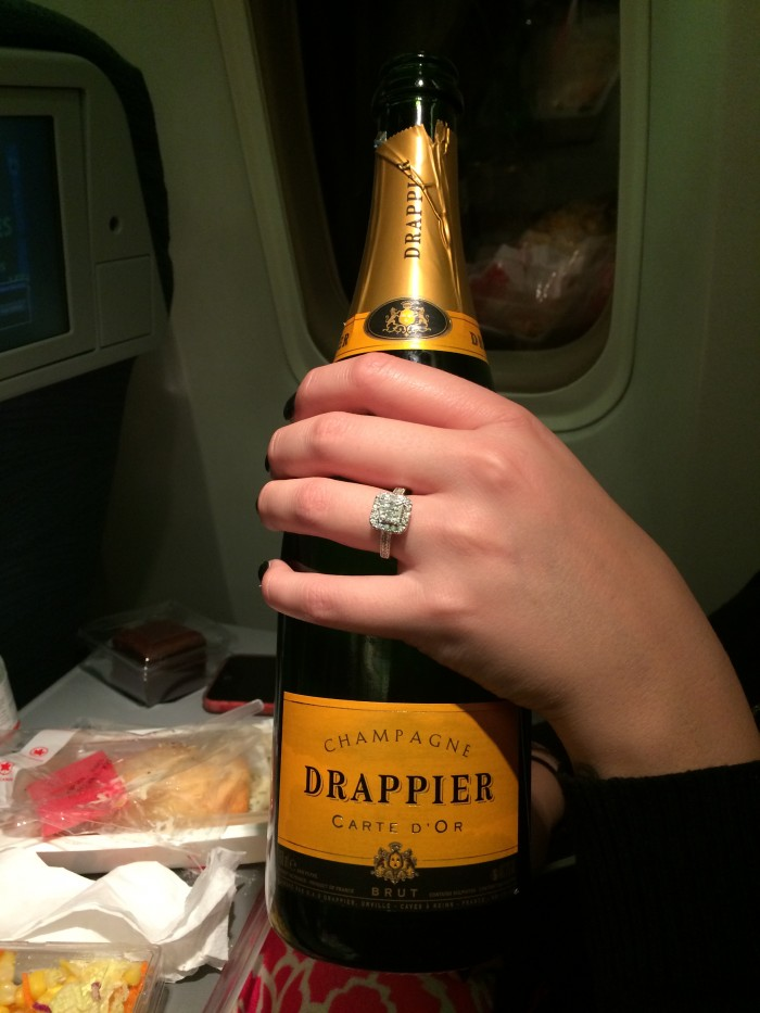 Champaign and ring