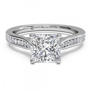 Channel-Set Diamond Engagement Ring w/ Surprise Diamonds