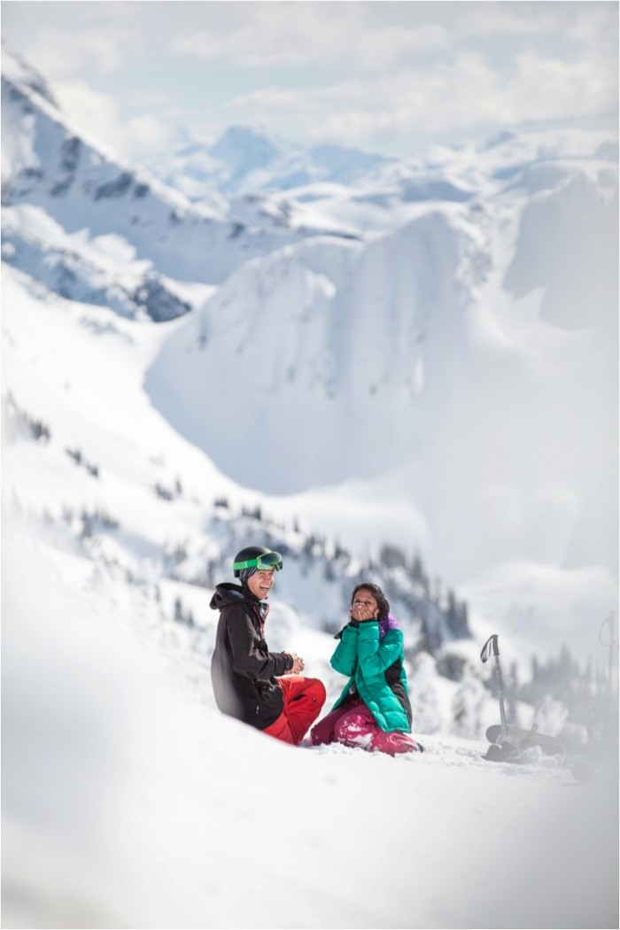 HowHeAsked Winter SkiingProposals-Hearts on Fire