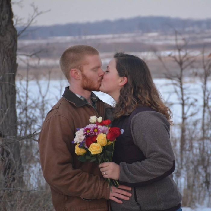 A final kiss before the sun finally set!